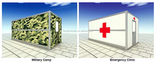Military camp emergency clinic used foldable container house