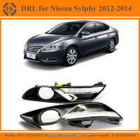 Factory Direct Supply LED Daytime Running Light for Nissan Sylphy Great Quality Ultra Bright LED DRL for Nissan Sylphy 2012-2014