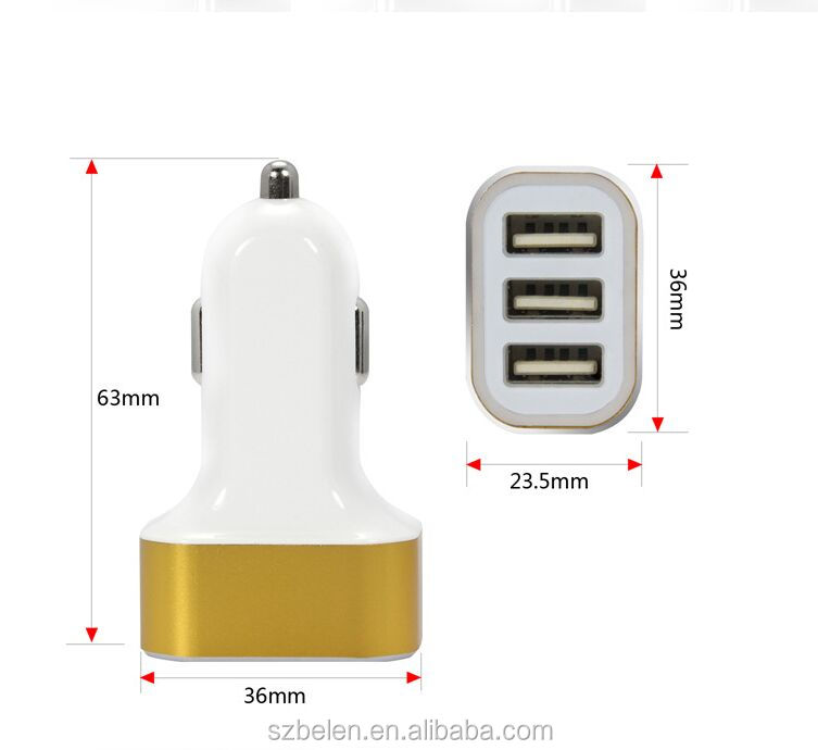 5.2A 3ports usb car charger-8