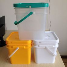 10l plastic oil bucket paint container 10 liter with lid and heat transfer printing