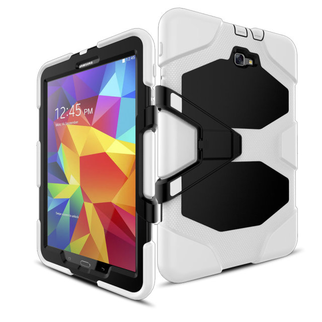Rugged Kickstand Strong armor PC TPU Tablet Cover Case For Samsung Tab A 7.0 T280 9.7 T550 10.1 T580 E T560 cases