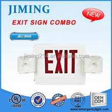 JIMIING -China TOP 1Emergency Exit Sign Light Manufacturer Since 1967 UL Listed Emergency Light Combo JEC2RW 1703161556