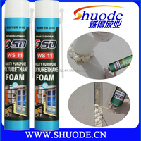 750ml low price roof insulation polyurethane filler adhesive well expanding foam