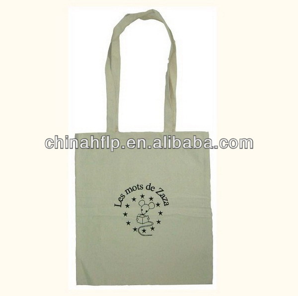 Memorial colorful cotton shopper bag with gusset