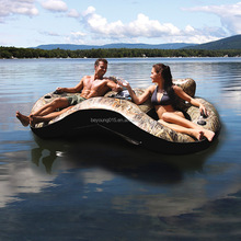 Realtree Color Double Inflatable Lake Runner Tube Float Water Lounge Cooler Cup Holder Pool Lake
