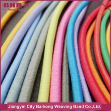 colorful polyester rubber elastic cord