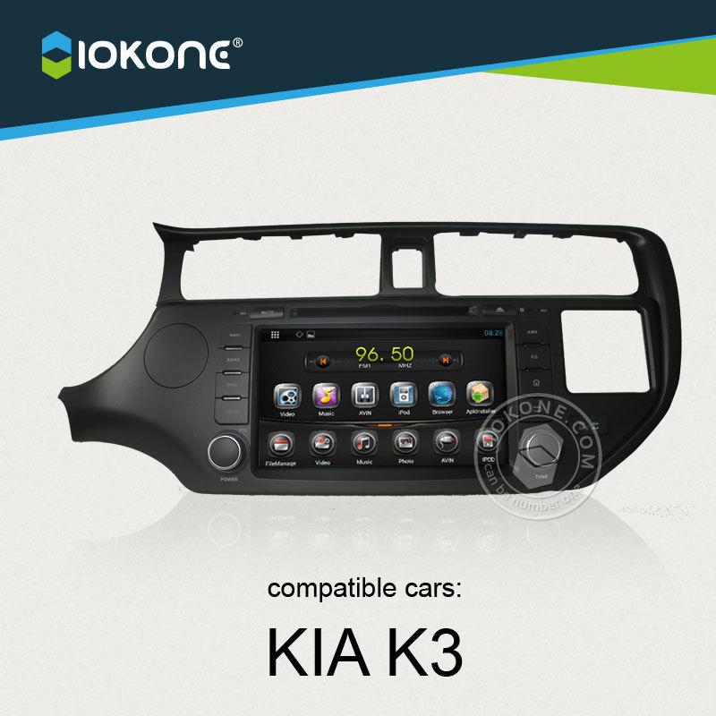 OEM 8inch capacitive screen car radio 2-din android gps for KIA Rio 2011 2012