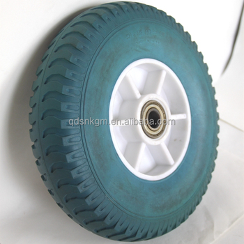 flat free solid tyres/tire 10 inch for trolley