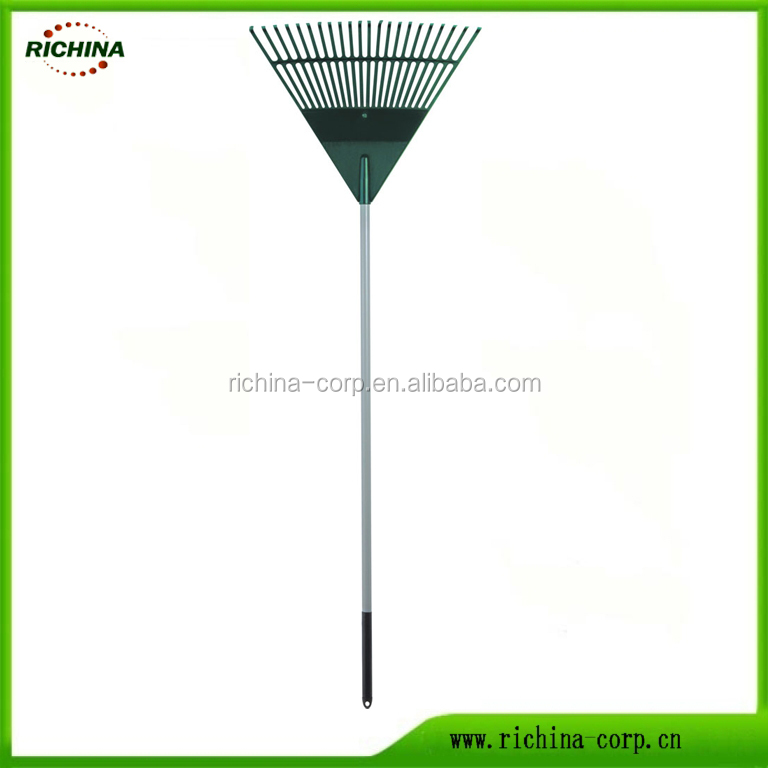 22 teeth, long handle, high quality hot sale, color customized,PP plastic head, Leaf rake