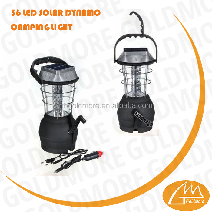 GOLDMORE 2 Foldable 36 led Solar rechargeable with3.6v 1200mah lantern 3*AAA camping light, Solar hand cranking dynamo lantern