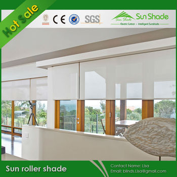 Somfy Motor sun roller shade for living room