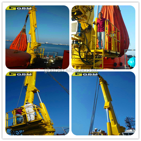 Hot sale 1t 30m Used Small size Hydraulic Offshore pedestal ship cranes for sale with ABS Certificate