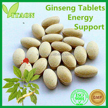400 mg ISO GMP Certificates and OEM Private Label American Ginseng Tablets