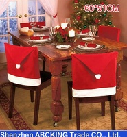 New Hot Santa Clause Cap Red Hat Furniture Chair Back Cover Christmas Dinner Table Party Xmas New Year Decoration