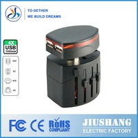 Made in china male to female electrical plug adapter(JS-A014)