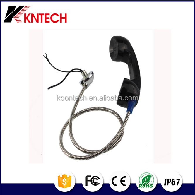 armoured cord phone cable acrylic handset holder Telephone Handset