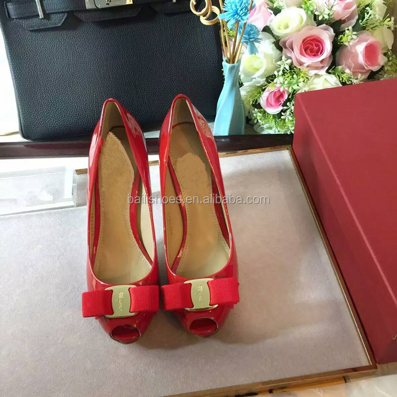 2016 China wholesale PU high heel women shoes platform peep toe casual ladies shoes