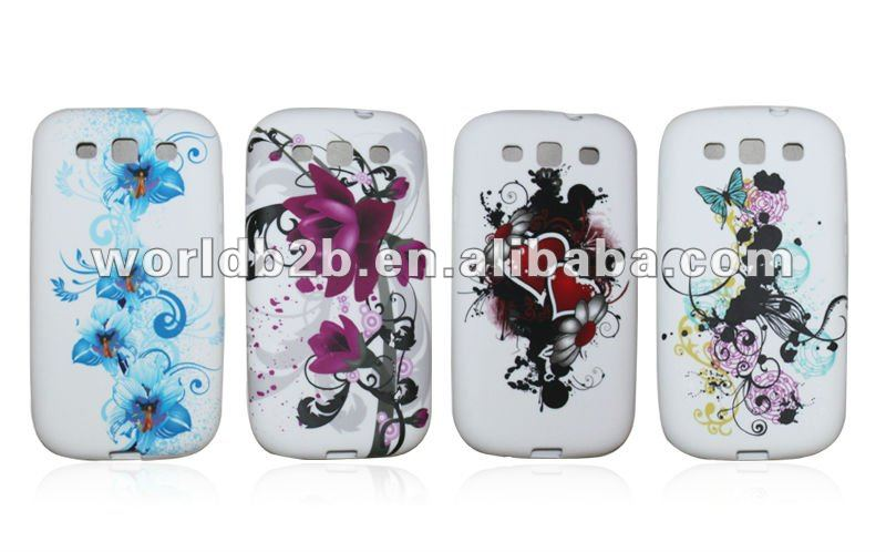 TPU case for samsung galaxy s3 i9300, Colorful printed