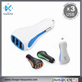 3USB DC DC 5V 4.5A USB Electronic Cigarette Car Charger with 3 in 1 USB
