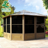 Good prices waterproof sun tent with aluminum metal roof gazebo