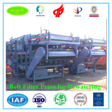 Mineral concentration use belt press for sludage dewatering with automatic control from china machine manufacturer