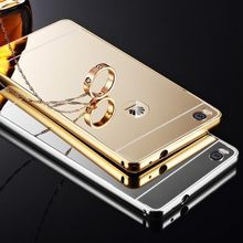 mirror metal bumper for huawei ascend p6