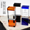colorfu wholesale glass block crystal trophy award