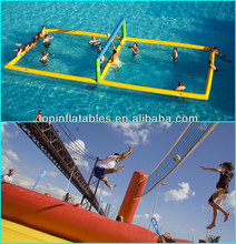 TOP inflatable volleyball field in swimming pool inflatable water soccer field
