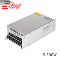 500W single output ac dc switching model 12V 40 Amp power supply 500 Watts 12 Volt led strip light driver with CE S-500-12