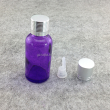 Free samples 50ml purple glass dropper bottle with caps for cosmetics 50ml spray bottle printing labels wholesale products