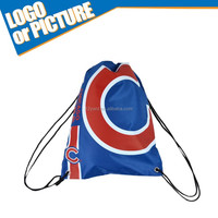 Promotion cheap Chicago Baseball game Canvas Drawstring Gym Bag