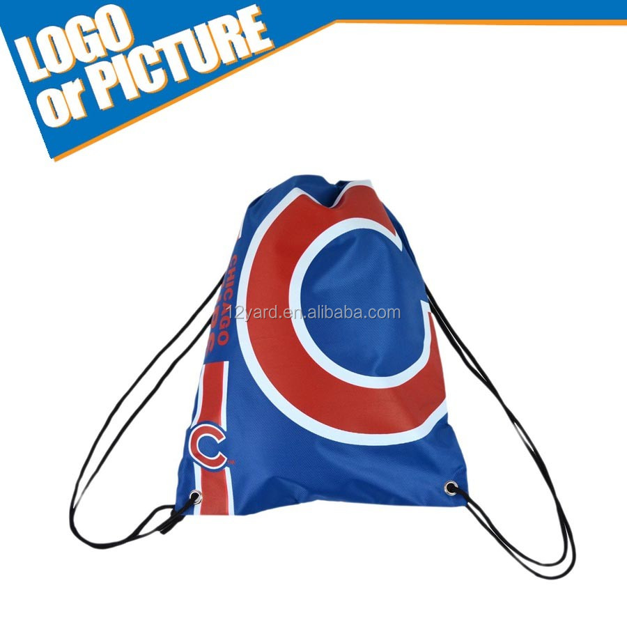 Promotion chicago baseball game drawstring gym Bag