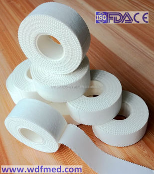 Zigzag Edge Cotton Athletic Sports Tape with High Class Adhesive
