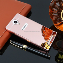 High quality 2 in 1 mirror case back cover for Lenovo K80M