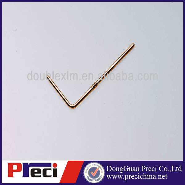 Male 90 degree gold plated brass terminal connect Pin