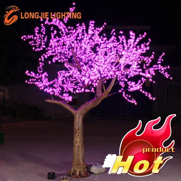 hot-sale outdoor led pink cherry blossom tree lights for holiday decoration