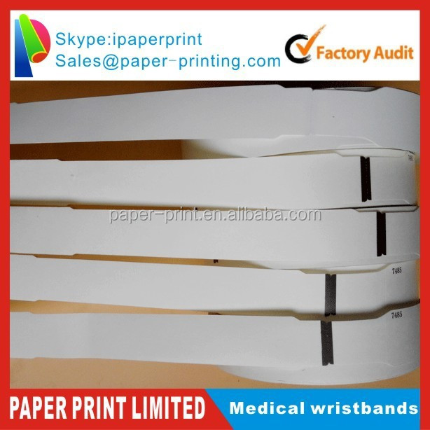 Custom Thin Hospital One Time Use Rfid Wristband,Woven Wristband