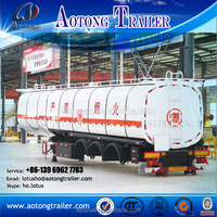 Include Air compressor high quality 55m3 bulk cement tanker / dry powder tank semi trailer