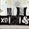 2016 new design pillow case simple linen cotton custom printing cushion covers