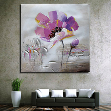 Cheap Wholesale Hotel Wall Decoration Canvas Art Simple Abstract Flower Oil Painting