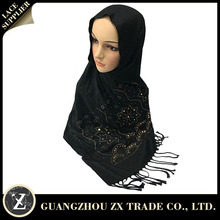 Popular style sexy fancy custom elastic comfortable muslim hot scarf viscose hijab