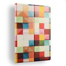 2017 new fashion color printing stand leather flip smart cover case for ipad air 2 ipad 6