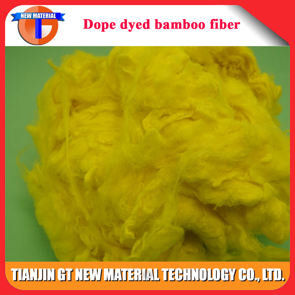 natural bamboo fiber of dope dyed for spinning