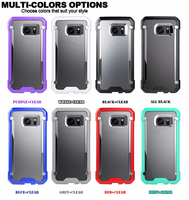 Silicone Bumper Transparent Hybrid Clear Hard Back Case for Samsung Galaxy