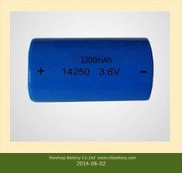 High quality 14250 1200mAh li-ion rechargable battery