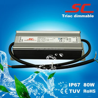 Good dimming effect 80w 2.22A constant voltage led driver triac tuv with 3 years warranty