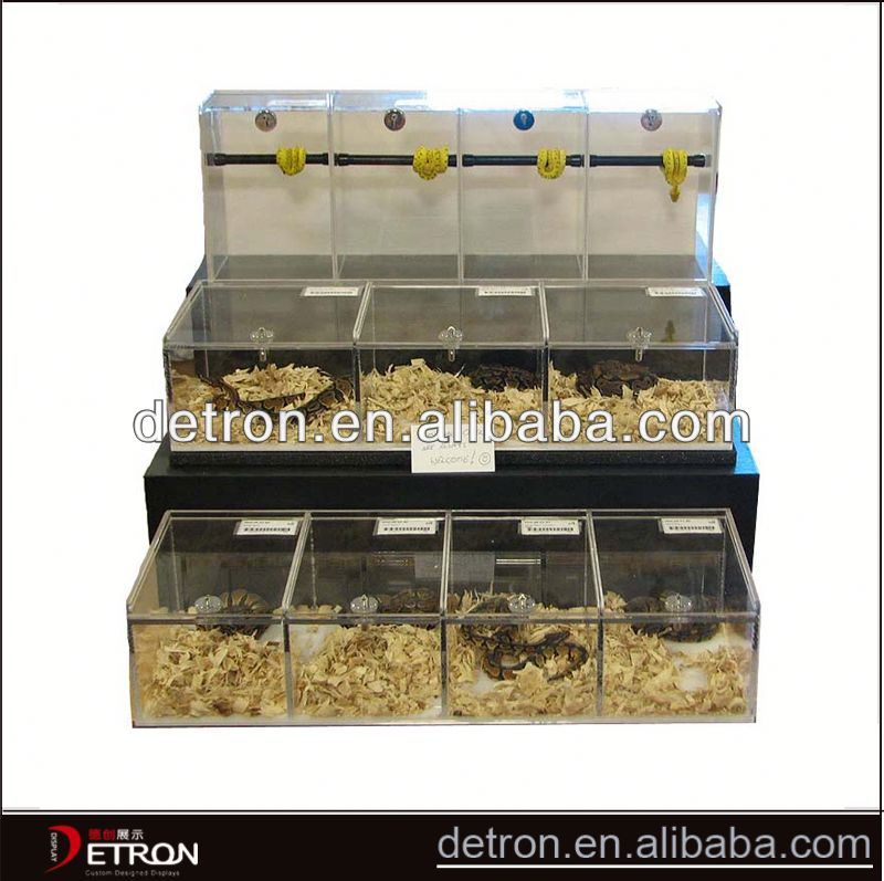 Custom Good quality acrylic reptile display cases