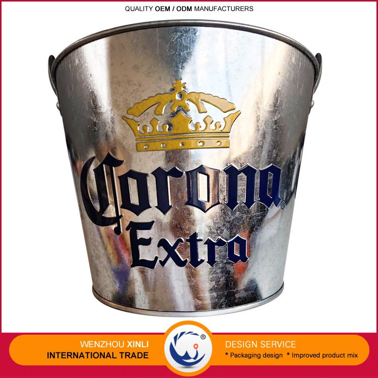 Goods From China CE Certificated Mini Metal 5L Volume Galvanized Sheet Ice Bucket