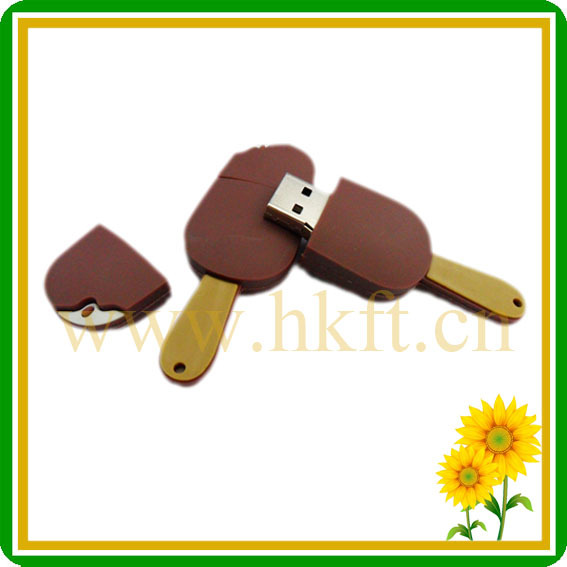 OEM ice cream shape 4GB usb flash drive & plastic usb 2.0