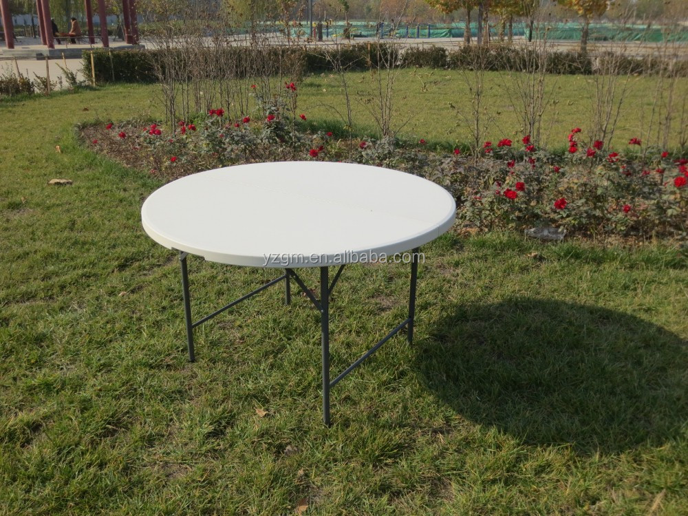 6ft outdoor plastic folding round table for event/ camping /wedding